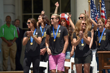 Hope Solo Christie Rampone New York City Holds Ticker Tape Parade For World Cup Champions U.S. Women's Soccer National Team