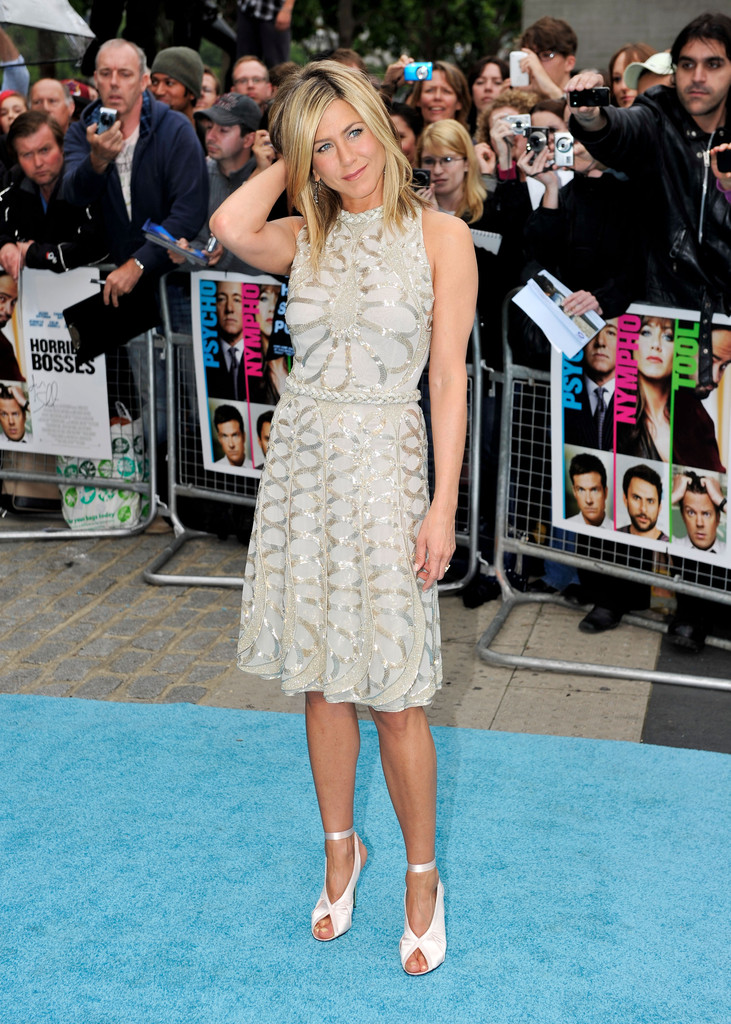 "Actress Jennifer Aniston  attends the UK film premiere of ""Horrible Bosses"" at BFI Southbank on July 20, 2011 in London, England."