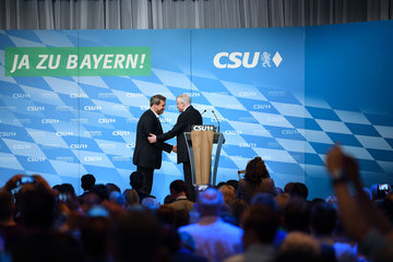 Horst Seehofer CSU Holds Final Campaign Event Ahead Of Bavarian Elections