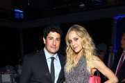 Actor Jason Biggs and Actress Jenny Mollen attend The Hospital for Special Surgery 35th Tribute Dinner at the American Museum of Natural History on June 4, 2018 in New York City.