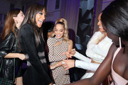 Jourdan Dunn (R) and Jasmine Sanders (C) attend Cindy Bruna's Birthday Party at Hotel Lutetia with Five Eyes Production as part of Paris Fashion Week Womenswear Spring Summer 2020 on September 28, 2019 in Paris, France.