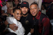 (L-R) Cindy Bruna, Neymar and Kylian Mbappe attend Cindy Bruna's Birthday Party at Hotel Lutetia with Five Eyes Production as part of Paris Fashion Week Womenswear Spring Summer 2020 on September 28, 2019 in Paris, France.