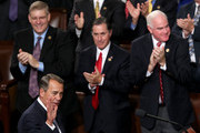 Outgoing Speaker of the House John Boehner (R-OH) waves after addressing fellow members of the U.S. House of Representatives on the floor of the House chamber October 29, 2015 in Washington, DC. The House is expected to elect Rep. Paul Ryan (R-WI) as the 62nd Speaker of the House, replacing Rep. John Boehner (R-OH), later in the day.
