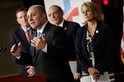 """Republican Study Committee Chairman U.S. Rep. Steve Scalise (R-LA) (2nd L) introduces the RSC's """"American Health Care Reform Act"""" during a press conference with other members of the committee as U.S. Rep. Paul Gosar (R-AZ) (L), RSC Health Care Working Group Chairman Dr. Phil Roe (R-TN) (2nd R) and U.S. Rep. Renee Ellmers (R-NC) looks on at the U.S. Capitol September 18, 2013 in Washington, DC. The Republican bill is intended to replace the Obama administration's Affordable Care Act, passed in 2010."""