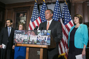 House Speaker John Boehner (R-OH) (2R) and House Republican leaders (L-R) Majority Leader Eric Cantor (R-VA), Rep. Lynn Jenkins (R-KS) and Rep. Cathy McMorris Rodgers (R-WA) speak to the press after a conference meeting  on November 13, 2013 in Washington, DC. The Republican leadership criticized the president's insistence that current health care plans could be kept, citing letters received by their constituents warning about an upcoming plan cancellation.