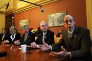 (L-R) House Majority Leader Rep. Eric Cantor (R-VA) and Republican negotiators for a conference committee of payroll tax cut negotiation Rep. Renee Ellmers (R-NC), Rep. Fred Upton (R-MI), Rep. Tom Price (R-GA), and Rep. Greg Walden (R-OR) speak to members of the media during a photo-op prior to a meeting with House Republican leaders December 21, 2011 on Capitol Hill in Washington, DC. The House Republicans called on the Democrats to appoint members to the negotiation table to work on the payroll tax cut extension bill that the House rejected after the Senate approved it.