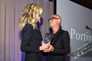 Founder & CEO, General Public, Portia de Rossi receives the Design Entrepreneur Award from designer Cliff Fong onstage during the Housing Works' Groundbreaker Awards Dinner 2019 on April 24, 2019 in New York City.