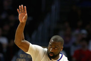 Raymond Felton #2 of the LA Clippers dribbles upcourt during the second  half of a game against the Houston Rockets at Staples Center on April 10, 2017 in Los Angeles, California.  NOTE TO USER: User expressly acknowledges and agrees that, by downloading and or using this Photograph, user is consenting to the terms and conditions of the Getty Images License Agreement