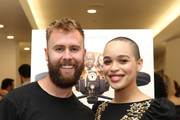"""Martin Sharpe (L) and Cleopatra Coleman attend the """"Hover"""" Los Angeles premiere screening at Arena Cinelounge on June 29, 2018 in Hollywood, California."""