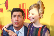 """Director Ken Marino (L) and actor Mckenna Grace attend the premiere of """"How To Be A Latin Lover"""" on April 26, 2017 in Los Angeles, California."""