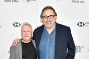 "Alan Menken and Don Hahn attend a screening of ""Howard"" during the 2018 Tribeca Film Festival at Cinepolis Chelsea on April 22, 2018 in New York City."
