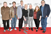 "Carl Rennick, Kirk Wise, Bill Lauch, Sarah Ashman Gillespie, composer Alan Menken, producer Lori Korngiebel and director Don Hahn attend a screening of ""Howard"" during the 2018 Tribeca Film Festival at Cinepolis Chelsea on April 22, 2018 in New York City."