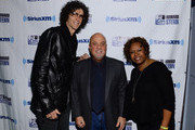 (L-R) Howard Stern, Billy Joel and Robin Quivers attend SiriusXM's Town Hall with Billy Joel hosted by Howard Stern at The Cutting Room on April 28, 2014 in New York City.