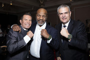 "In this handout image provided by Hublot, Julio Cesar Chavez, Mike Tyson and Ricardo Guadalupe attend the Hublot x WBC ""Night of Champions"" Gala at the Encore Hotel on May 03, 2019 in Las Vegas, Nevada."