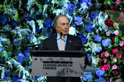 Honoree Michael Bloomberg speaks onstage during the Hudson River Park Annual Gala at Cipriani South Street on October 17, 2019 in New York City.