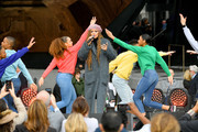 Andra Day performs onstage with dancers at Hudson Yards, New York's Newest Neighborhood, Official Opening Event on March 15, 2019 in New York City.