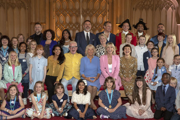 Hugh Bonneville The Duchess Of Cornwall Attends Final Of 500 Words Creative Writing Competition