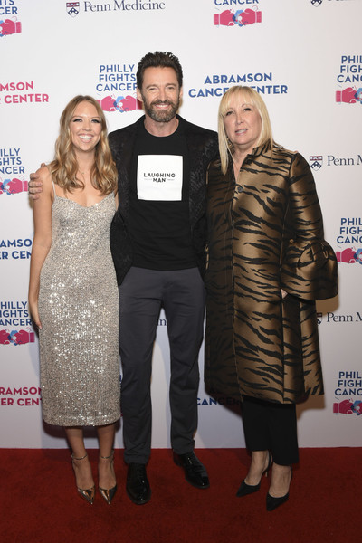 Philly Fights Cancer: Round 5 Starring Hugh Jackman, John Mulaney, And Andy Grammer [carpet,fashion,event,premiere,red carpet,dress,award,flooring,fashion design,cocktail dress,hugh jackman,andy grammer,john mulaney,missy dietz,paige dietz,red carpet,l-r,philadelphia navy yard,round,philly fights cancer]