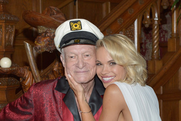 Hugh M. Hefner Playboy's 2015 Playmate of the Year Announcement Ceremony