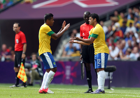 Hulk and Alex Sandro - Olympics Day 15 - Men's Football Final - Brazil v Mexico