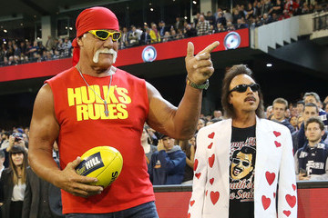 Hulk Hogan AFL Rd 5 - Carlton v Collingwood