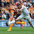 Nikica Jelevic Photos - Nikica Jelevic of Hull City andPhil Jones of Manchester United compete for the ball competeduring the Barclays Premier League match between Hull City and Manchester United at KC Stadium on May 24, 2015 in Hull, England. - Hull City v Manchester United - Premier League