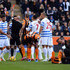 Joey Barton Photos - Joey Barton of QPR is shown a red card and is sent off by referee Anthony Taylor during the Barclays Premier League match between Hull City and Queens Park Rangers at KC Stadium on February 21, 2015 in Hull, England. - Hull City v Queens Park Rangers - Premier League