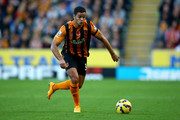 Hatem Ben Arfa of Hull in action during the Barclays Premier League match between Hull City and Southampton at the KC Stadium on November 1, 2014 in Hull, England.
