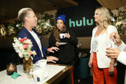 (L-R) Abby Wambach, Tobin Heath and Chief Marketing Officer for Hulu Kelly Campbell attend the Hulu '19 Presentation at Hulu Theater at MSG on May 01, 2019 in New York City.