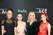 """(L-R) Chloe Sevigny, Joey King, Patricia Arquette, and AnnaSophia Robb attend Hulu's """"The Act"""" New York Premiere at The Whitby Hotel on March 14, 2019 in New York City."""