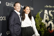 """Matthew Alan and Camilla Luddington attend Hulu """"Castle Rock"""" Season 2 Premiere at AMC Sunset 5 on October 14, 2019 in West Hollywood, California."""