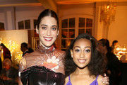 (L-R) Lizzy Caplan and Lexi Underwood attend the Hulu LA Press Party 2019 at Spago on November 12, 2019 in Beverly Hills, California.