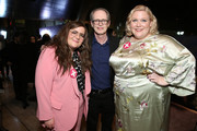 """(L-R) Aidy Bryant, Steve Buscemi and Executive Producer Lindy West attend Hulu's """"Shrill"""" New York Premiere at Film Society of Lincoln Center - Walter Reade Theater on March 13, 2019 in New York City."""