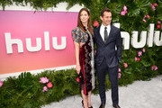 Actors Michelle Monaghan and Hugh Dancy attend the Hulu Upfront Brunch at La Sirena Ristorante on May 3, 2017 in New York City.