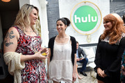 Shakina Nayfack, Sarah Silverman and Julie Klausner attend the Hulu Uprfront Brunch at La Sirena Ristorante on May 3, 2017 in New York City.