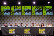 Francis Capra, Percy Daggs III, Ryan Hansen, Kirby Howell-Baptiste, Enrico Colantoni, Jason Dohring, Kristen Bell, Diane Ruggiero-Wright and Rob Thomas attend Hulu's 'Veronica Mars' revival panel and world premiere during 2019 Comic-Con International at San Diego Convention Center on July 19, 2019 in San Diego, California.