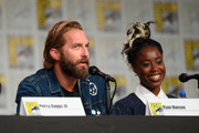 Ryan Hansen and Kirby Howell-Baptiste attend Hulu's 'Veronica Mars' revival panel and world premiere during 2019 Comic-Con International at San Diego Convention Center on July 19, 2019 in San Diego, California.
