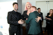 (L-R) Justin Mikita, Betty Who and Jesse Tyler Ferguson attend The Human Rights Campaign 2019 Los Angeles Gala Dinner at JW Marriott Los Angeles at L.A. LIVE on March 30, 2019 in Los Angeles, California.