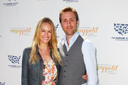 E! News Correspondent Ashlan Gorse and CNN Social Correspondent Philippe Cousteau arrive to The Humane Society of the United States' Veg Appetit at Smogshoppe on June 16, 2013 in Los Angeles, California.