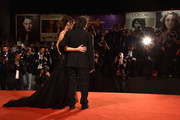 Al Pacino and Lucila Sola attend 'The Humbling' premiere during the 71st Venice Film Festival on August 30, 2014 in Venice, Italy.