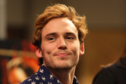 'The Hunger Games: Catching Fire' cast member Sam Claflin meets fans on November 5, 2013 at Mall of America in Bloomington, Minnesota.