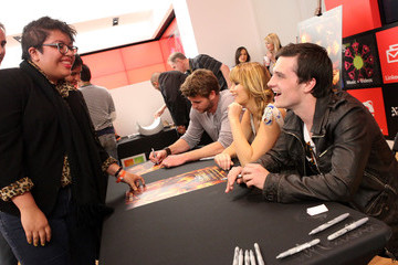 Josh Hutcherson Liam Hemsworth The Hunger Games U.S. Mall Tour Kick-Off At LA's Century City