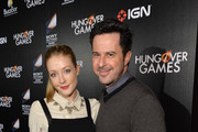 """Actress Jennifer Finnigan (L) and actor Jonathan Silverman attend the """"The Hungover Games"""" cast & crew screening at TCL Chinese 6 Theatres on February 11, 2014 in Hollywood, California."""
