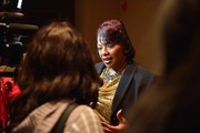 "Bernice King gives interviews during the reception honoring the 50th anniversary of the ""Selma to Montgomery"" March at Rosa Parks Library Museum on March 6, 2015 in Montgomery, Alabama."