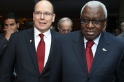 President of the IAAF Lamine Diack (R) and Prince Albert II of Monaco attend the IAAF athlete of the year awards at the IAAF Centenary Gala on November 24, 2012 in Barcelona, Spain.