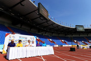 A general view inside the stadium during a press conference prior to the IAAF Continental Cup at Mestsky Stadium on September 7, 2018 in Ostrava, Czech Republic.