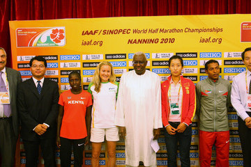Xiaolin Zhu IAAF/Sinopec World Half Marathon Championships - Press Conference
