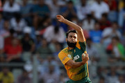 Imran Tahir of South Africa bowls during the ICC World Twenty20 India 2016 Super 10s Group 1 match between South Africa and Afghanistan at Wankhede Stadium on March 20, 2016 in Mumbai, India.