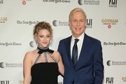 Lili Reinhart and Executive Director of IFP and the Made in New York Media Center by IFP Jeff Sharp attend the IFP's 29th Annual Gotham Independent Film Awards at Cipriani Wall Street on December 02, 2019 in New York City.