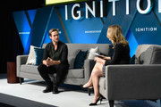 Nick Bell, VP of Content at Snapchat, speaks with Alyson Shontell onstage at IGNITION: Future of Media at Time Warner Center on November 29, 2017 in New York City.